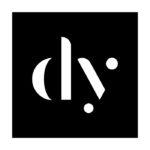 daniel yu square logo white text on black